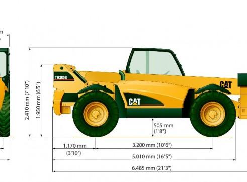 Caterpillar TH360B Telehandler 1