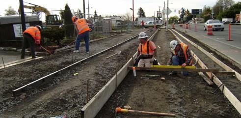Civil excavation works in preparation for curb & gutter formation 1