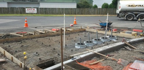 Civil excavation works in preparation for curb & gutter formation 2