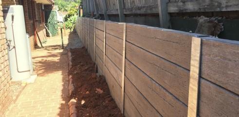 Concrete Sleeper Retaining Wall 1