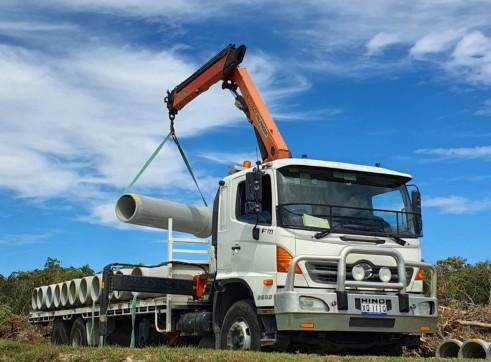 Crane truck hire 1