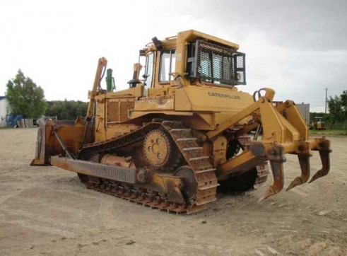D6H Dozer with Rake and Rippers  1