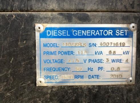 Diesel Generator 110KVA 3