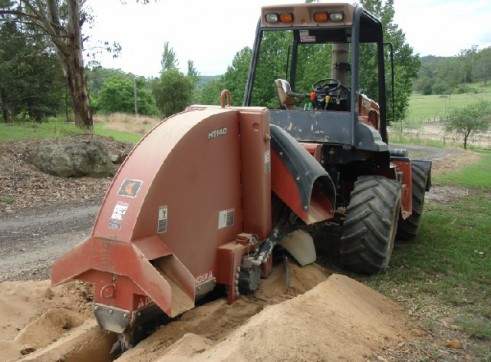 115HP Ditch Witch RT115 Rock Saw 3