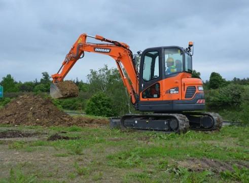 Doosan DX60R 6T Excavator - Zero Swing