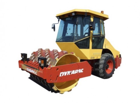 Dynapac Single Padfoot Vibrating Drum Roller - 7.9t 1