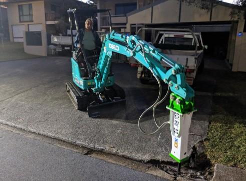 EE-RB10S Rock Breaker suits 1.5 - 2.5 T Excavators 9