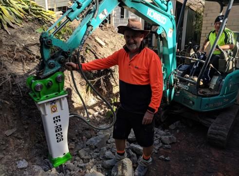 EE-RB20S Rock Breaker suits 1.7 - 3 T Excavators 12