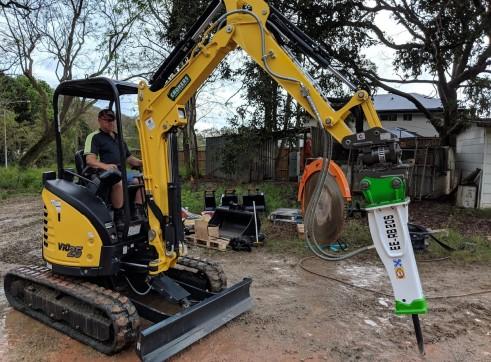 EE-RB20S Rock Breaker suits 1.7 - 3 T Excavators 16