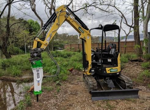 EE-RB20S Rock Breaker suits 1.7 - 3 T Excavators 6
