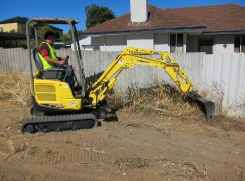 Excavator + Attachments & Operator