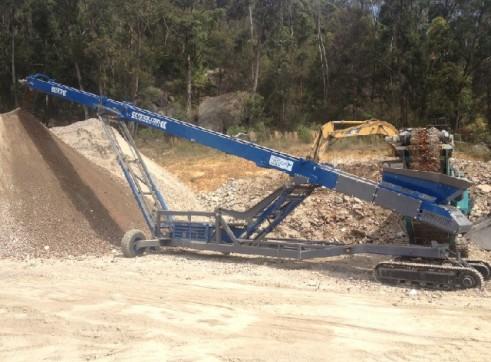 Ezystak R-8042TS (80FT) 24m Radial Track Conveyor 1
