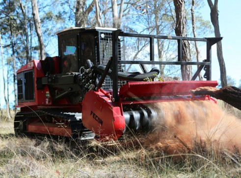 FECON FTX128L COMPACT MULCHING TRACTOR WITH MULCHER