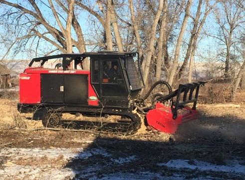 FECON FTX128L COMPACT MULCHING TRACTOR WITH MULCHER 4