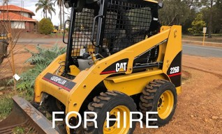 FOR HIRE Cat 226 Bobcat Skidsteer FOR HIRE with attachments 1