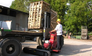 Hades Tracked Fork Lift- with track widening 1