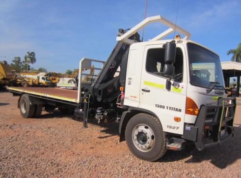 Hino FG1527 9T Hiab 6m Tray Truck with Mine Spec 1