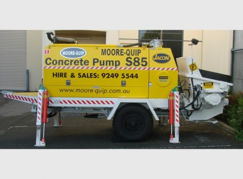 Hire S85 Concrete Pump, Hi Rise 90 Cubes per hour, Hi Rise and Piling 1