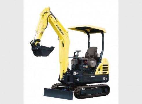 Hyundai 1.6T R16-9 Mini Excavator 1