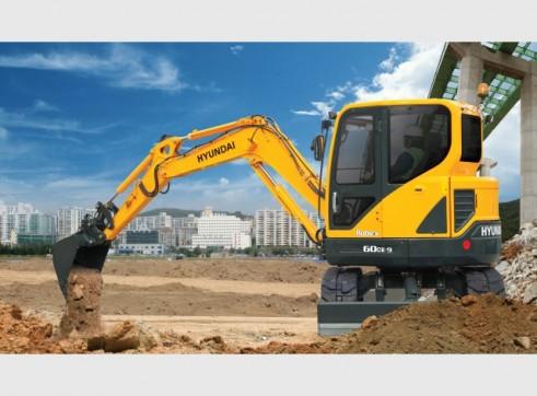 Hyundai 6t R60-9 Mini Excavator 1