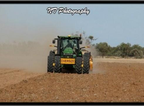 John Deere 8360R Tractor w/ laser bucket 2