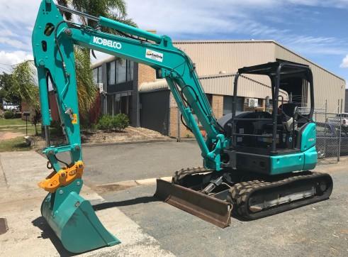 Kobelco SK55SR Mini Excavator, 5.2 Ton