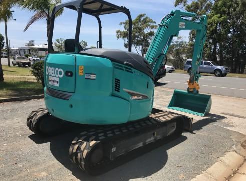 Kobelco SK55SR Mini Excavator, 5.2 Ton  3