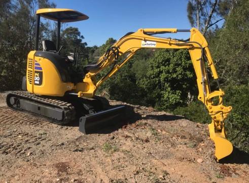 Komatsu PC30MR Mini Excavator, 3 Ton