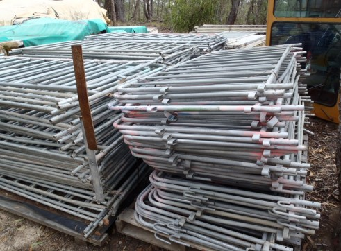 Large Lot Crowd Control Barriers. 160 separate barriers 1