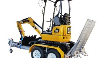 MACHINERY HIRE - Caterpillar 301.7 Mini Excavator  1