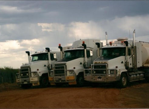 Mack Trident Prime Movers with 32000L Water Tankers x3  3