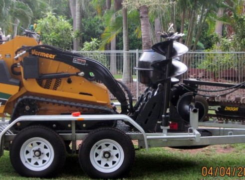 Mini Combo - 2014 Vermeer Skidsteer on Tandem Trailer 1