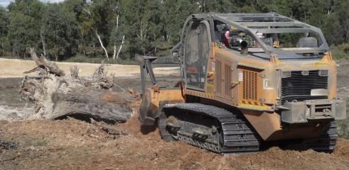 Mulching Large Trees - Land Clearing 2