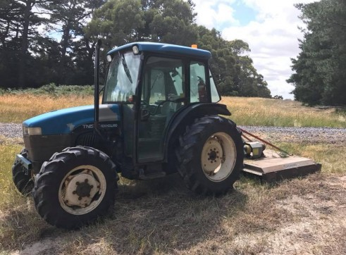 New Holland Tractor w/slasher 1