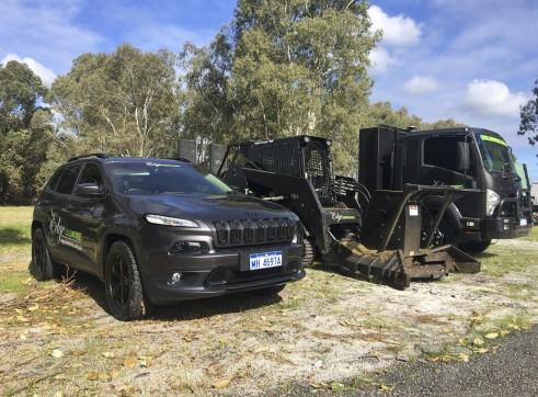 PT100 Posi-Track w/Forestry Mulcher 7
