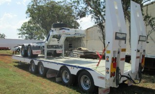 Quad Axle 4x4 Deck Widener Low Loader and 2x4 Dolly 1