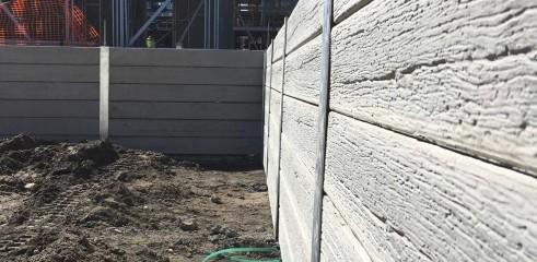 Retaining Wall - Concrete Sleeper 1