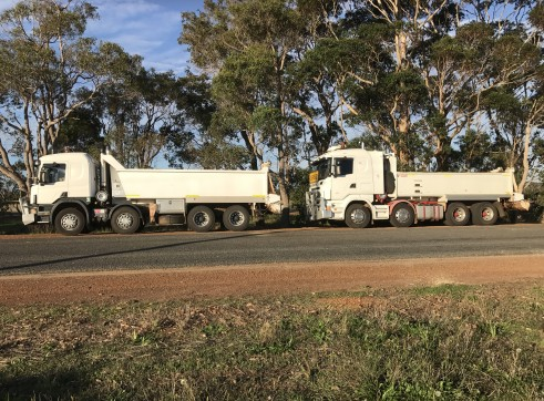 rigid tippers, 5 axel low loader float 1