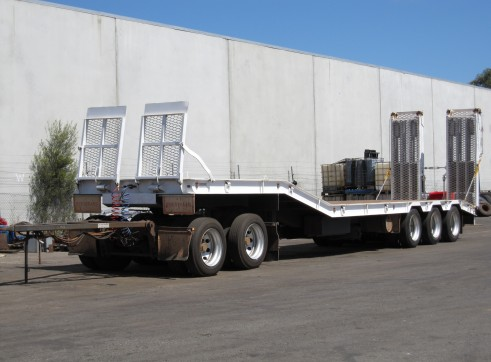 rigid tippers, 5 axel low loader float 2