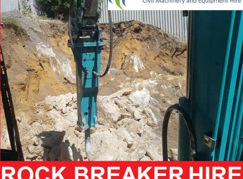 ROCK BREAKER HIRE WITH OR WITHOUT OPERATOR 1