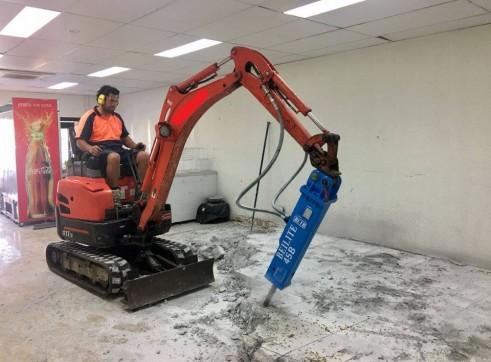 Rock Breaker - suit 1.5 to 6 ton excavators 1