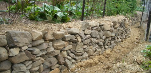 Rock Wall Construction 1