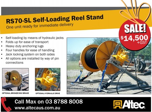 RS70-SL Self-Loading Reel Stand 1