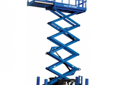 Scissor Lift - 9.7m (32ft) Rough Terrain Genie 1