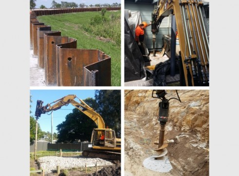 Screw Timber Sheet Piling | Bored Piers | CFA | Rock Sawing 1