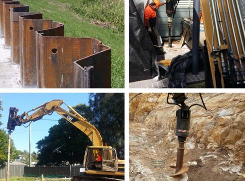 Screw Timber Sheet Piling | Bored Piers | CFA | Rock Sawing