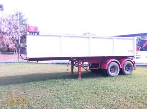 Semi-tipping trailer for hire 1