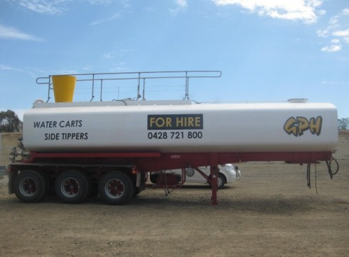 Semi Water Tanker or Water Trailer - Full Mine Spec 1