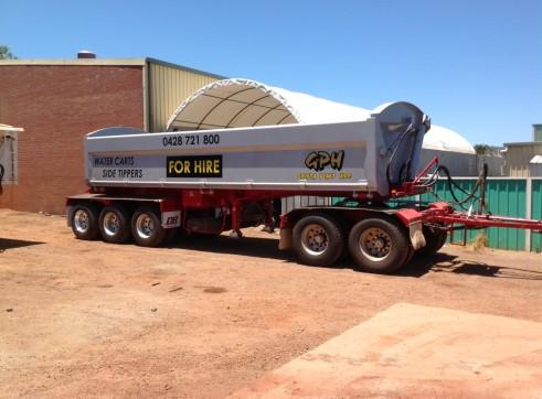 Side Tipper trailer/ semi water tanker trailer - Mine Spec 2