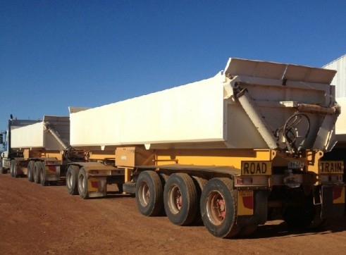 Side Tippers - Road Train with Prime mover 1